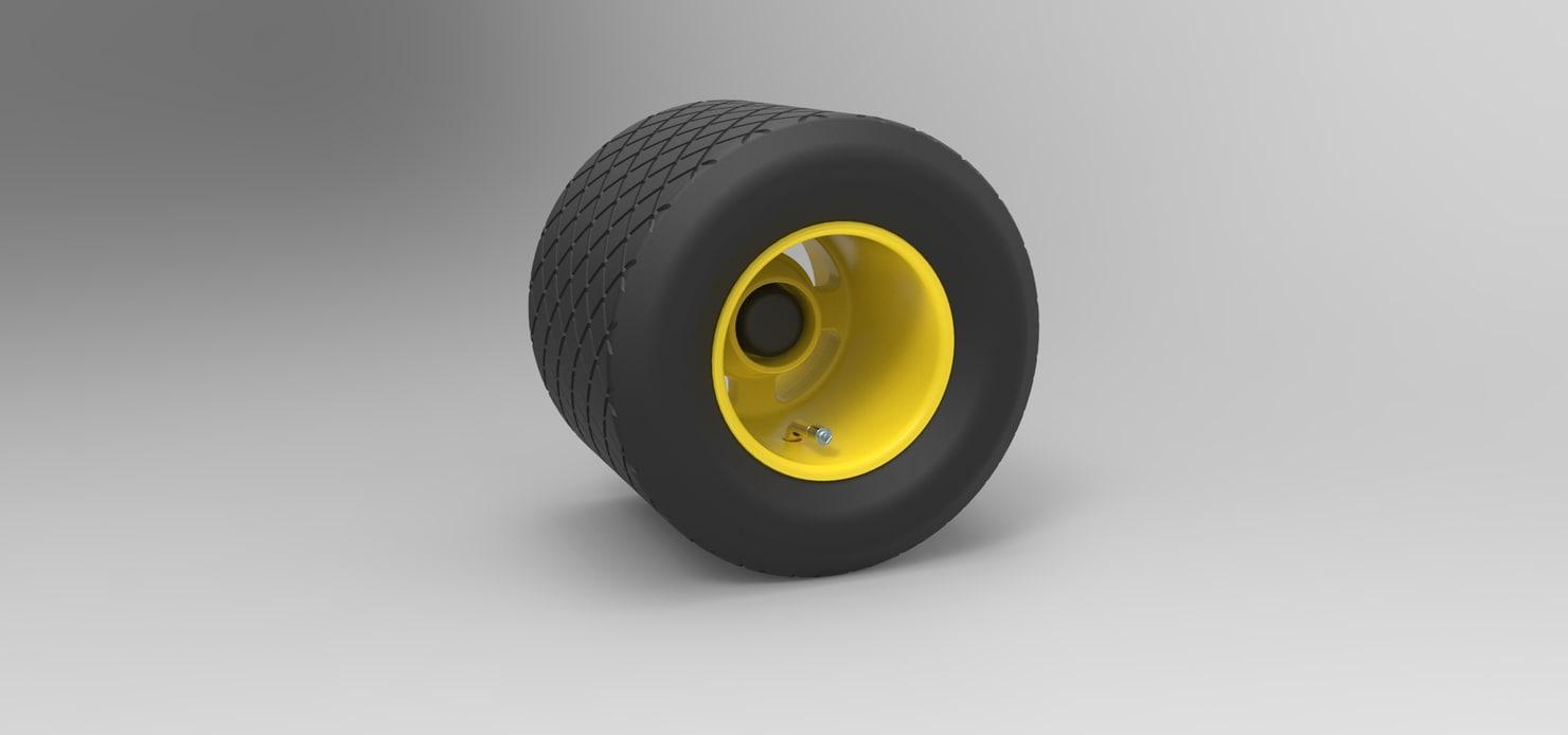 wheel cart 3D
