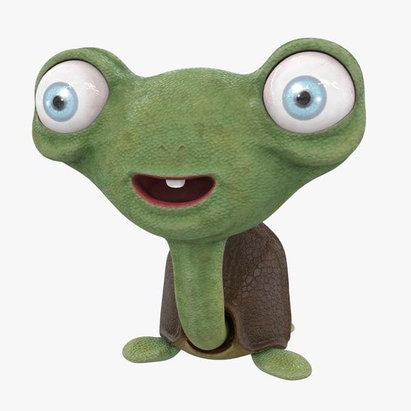 character snail 3D model