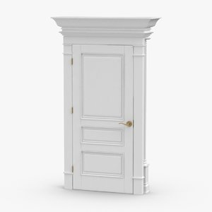 classic-doors---door-3-closed 3D model