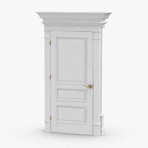 classic-doors---door-3-closed 3D model