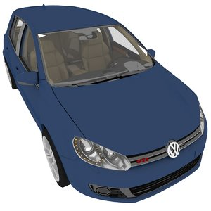 3D model volkswagen golf