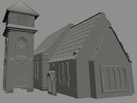 3D church old