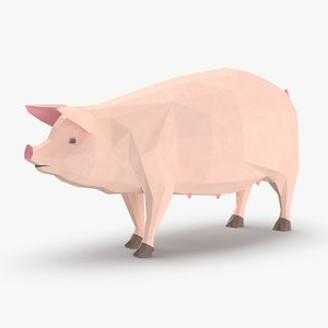3D pig---standing model