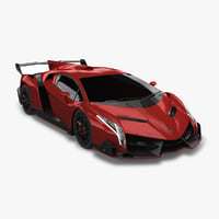 3D 2014 lamborghini veneno interior car