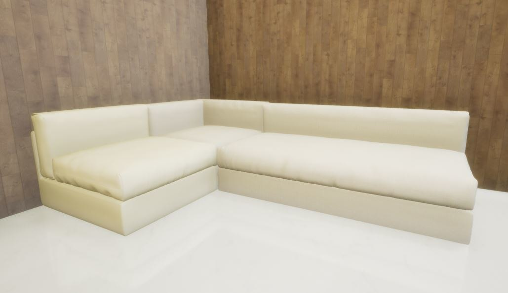 3 pieces l sofa 3D model