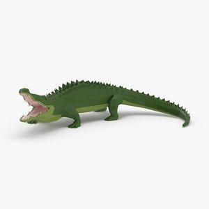 alligator---standing 3D