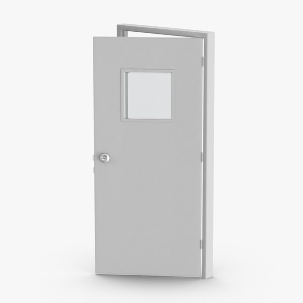 commercial-doors---door-3-ajar 3D model