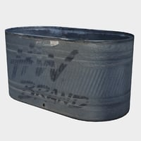 metal water trough 3D model