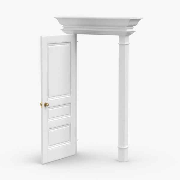 classic-doors---door-5-open 3D model