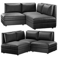 IKEA VALLENTUNA Murum black 3-seat corner sofa