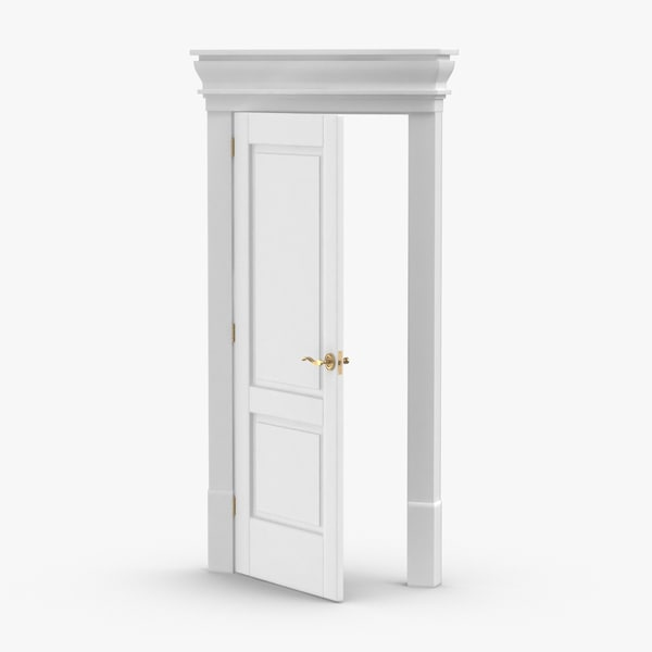 classic-doors---door-2--ajar 3D model