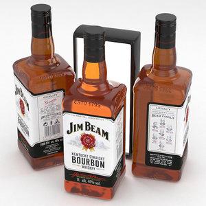 3D bourbon whiskey beam