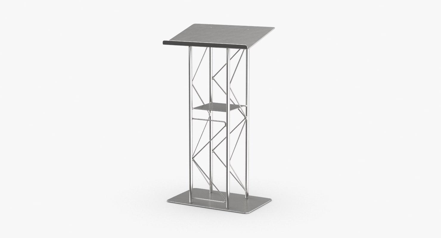 stage-podium-04 3D model