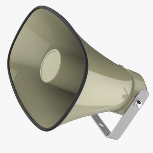 3D horn speaker megaphone