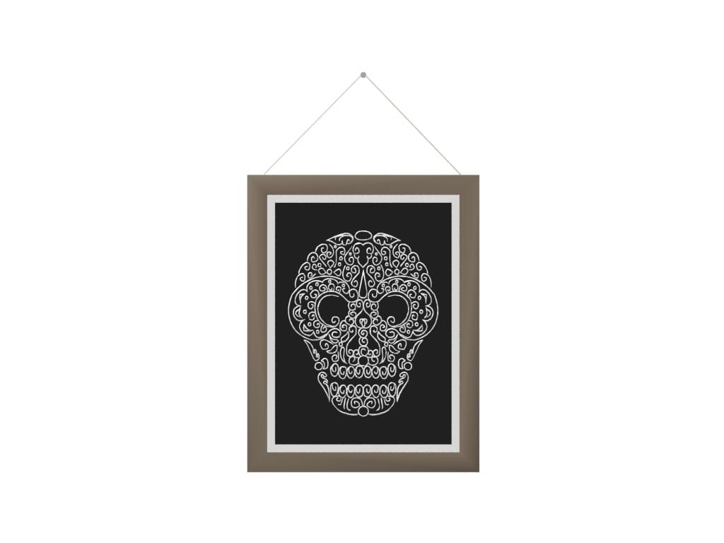 picture frame skull model