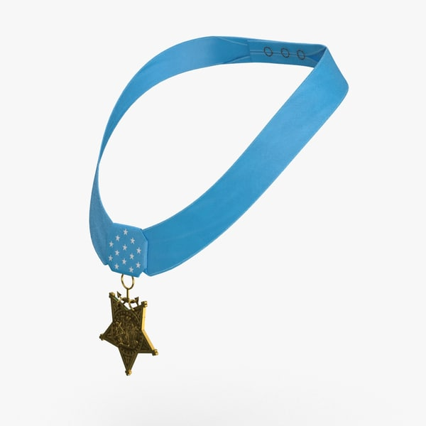 3D medal-of-honor-navy---worn model