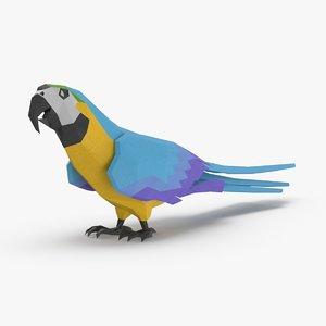 parrot----blue-standing 3D