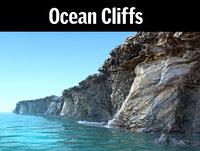 ocean cliff hd 3D model