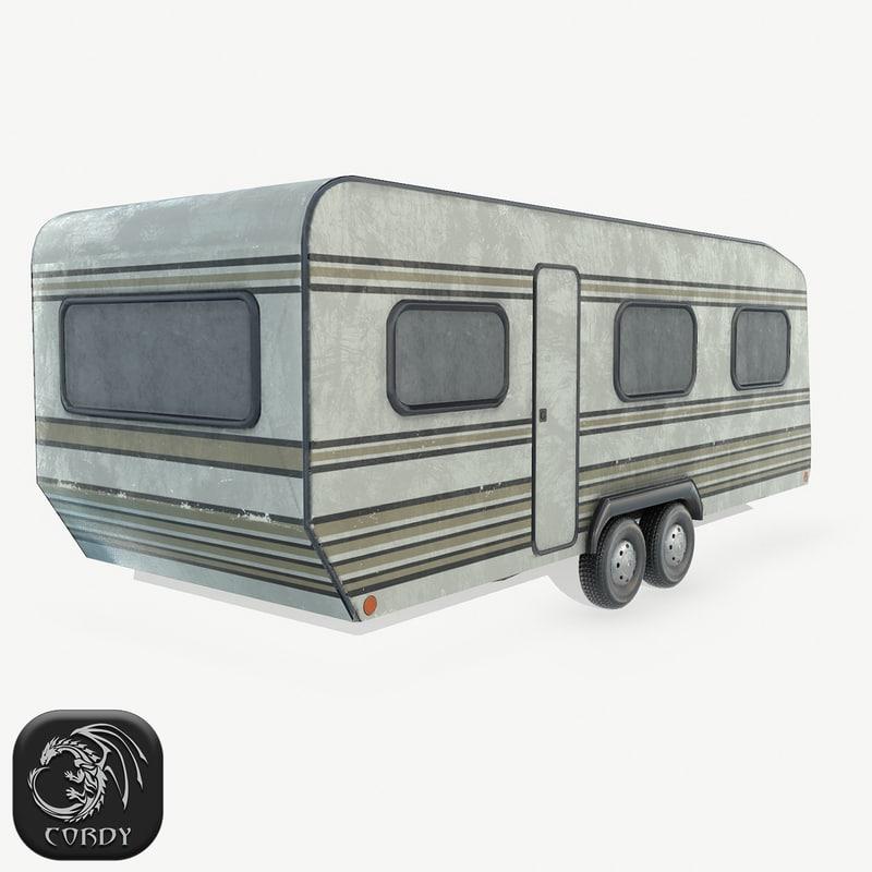 3D basecamp trailer