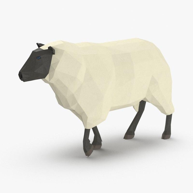 sheep---walking 3D model