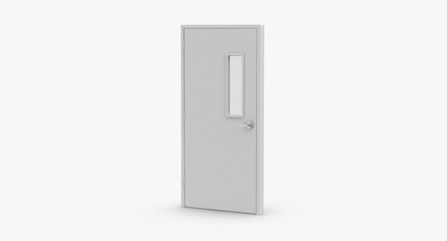 3D model commercial-doors---door-2-closed