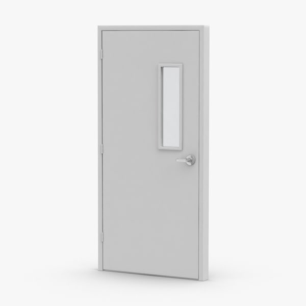 3D model commercial-doors---door-2-closed