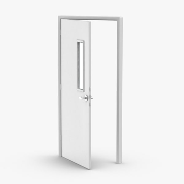 3D commercial-doors---door-2-ajar model
