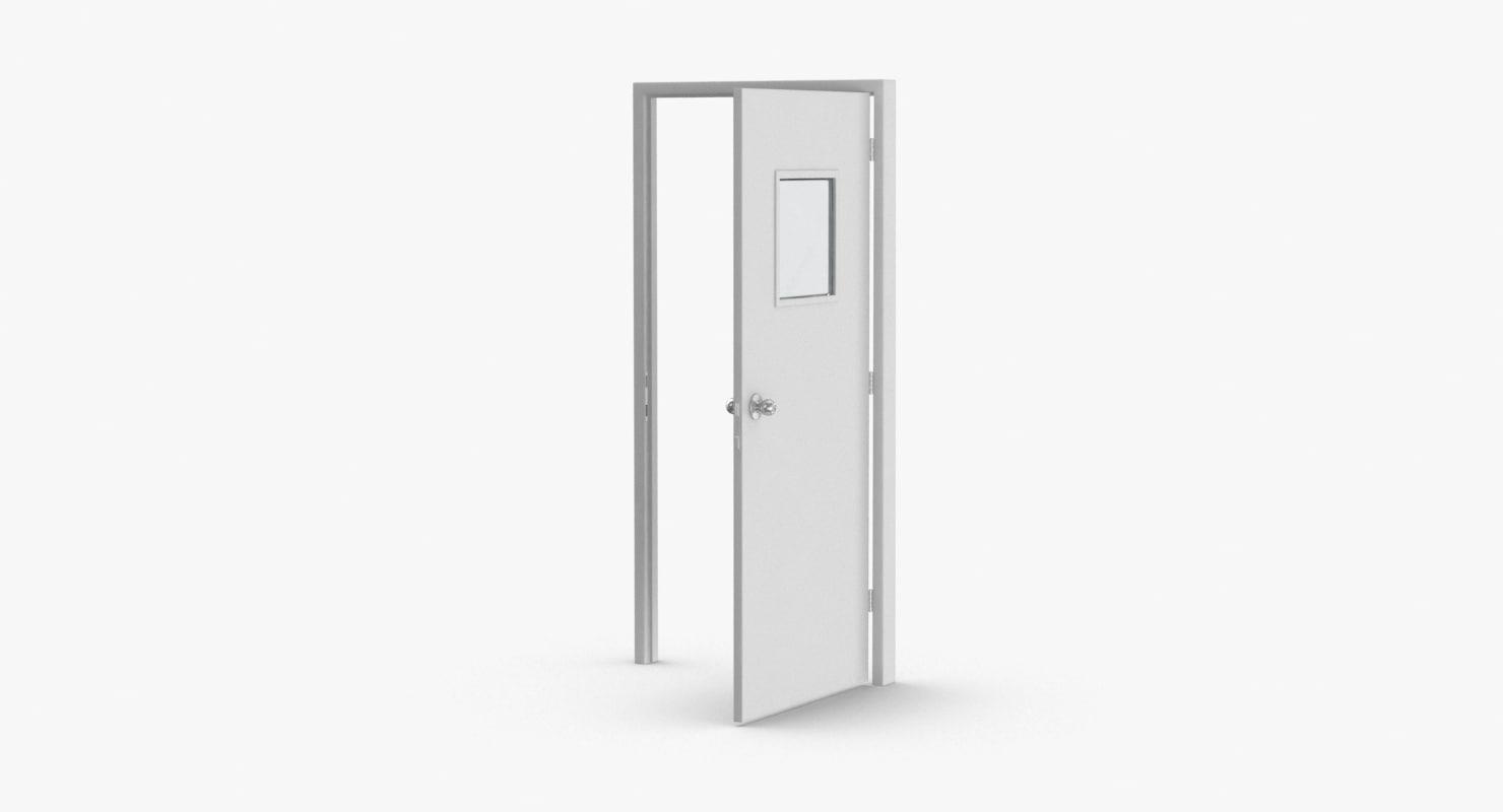 commercial-doors---door-3-open 3D