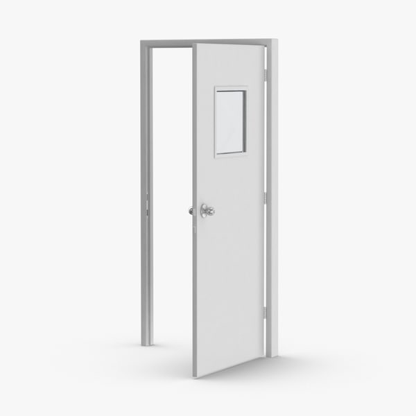 commercial-doors---door-3-open 3D