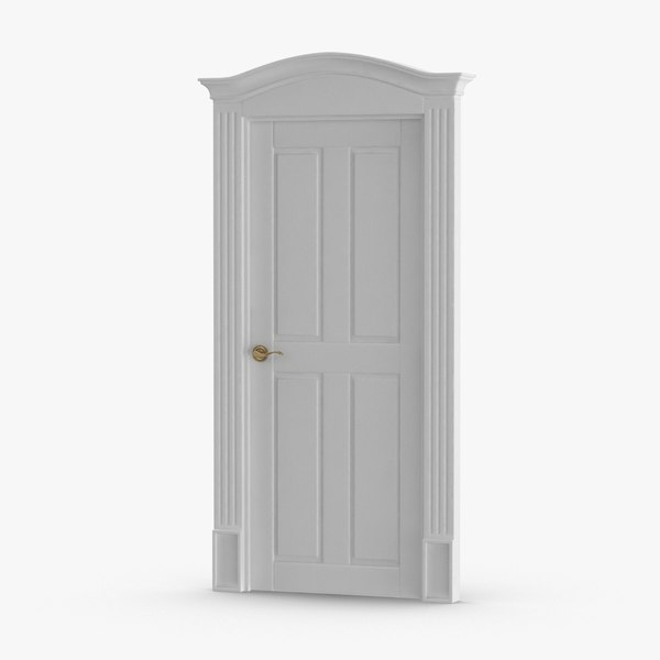 classic-doors---door-1-closed 3D model