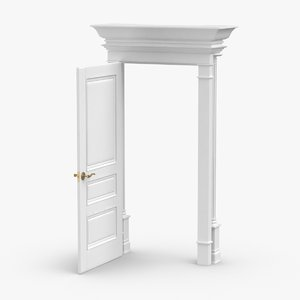 3D classic-doors---door-3-open model