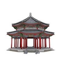 3D octagonal pavilion
