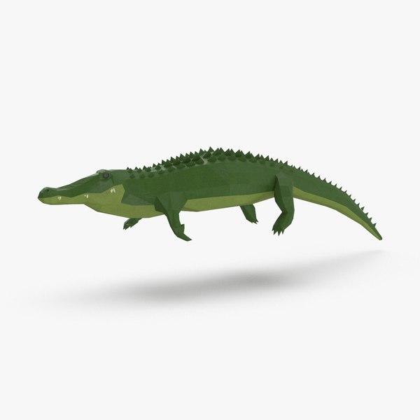 alligator---swimming model