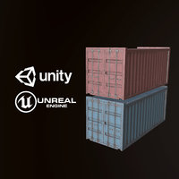 3D pbr ready shipping container model