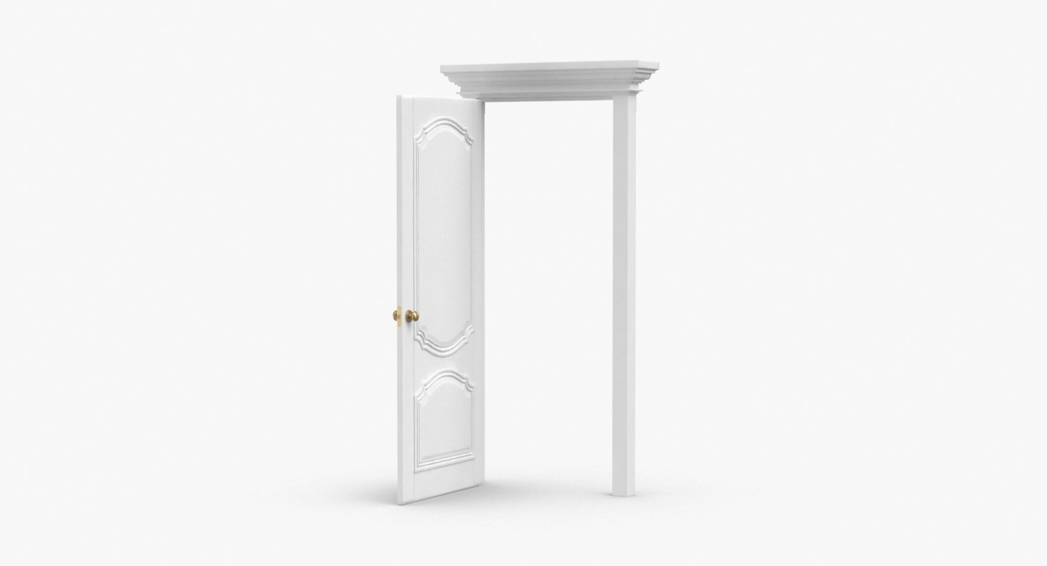 classic-doors---door-4-open 3D model