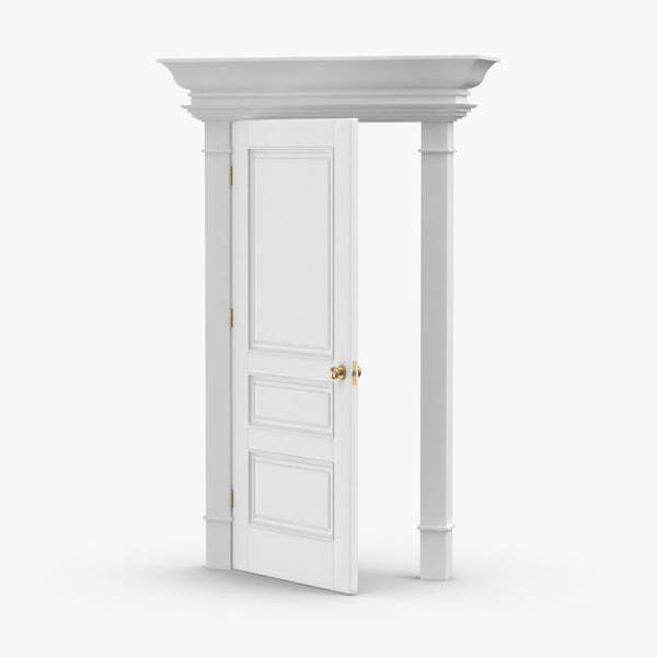 classic-doors---door-6-ajar 3D model