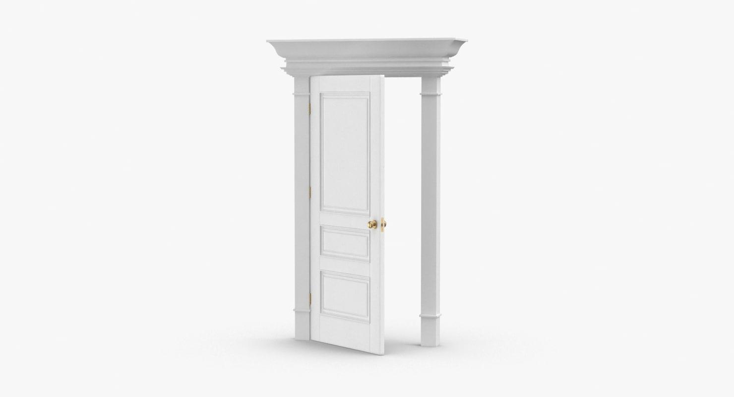 classic-doors---door-6-ajar 3D model