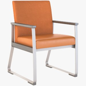 realistic photoreal armchair model
