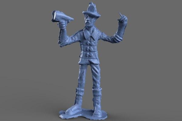 fighter speaker miniature toy 3D model
