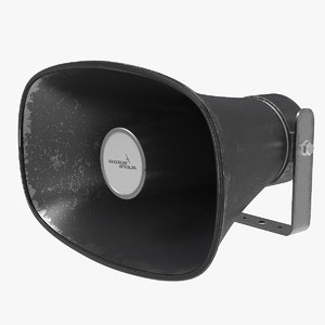 horn speaker megaphone v2 3D model