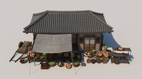 Asian Classic Fruits Store Set