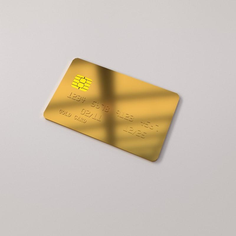 gold card 3D model