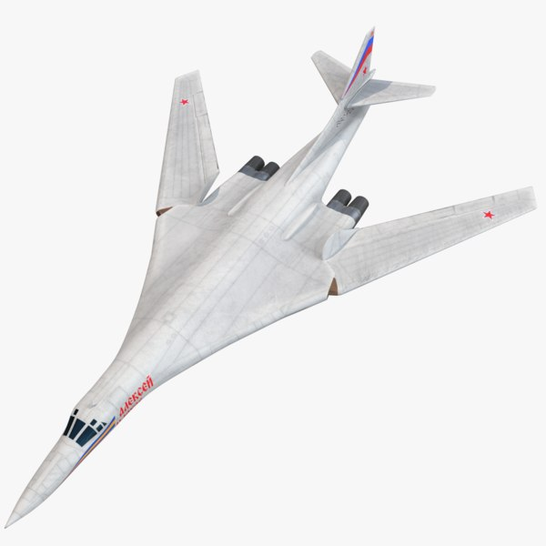 tu-160 tupolev blackjack bomber 3D model