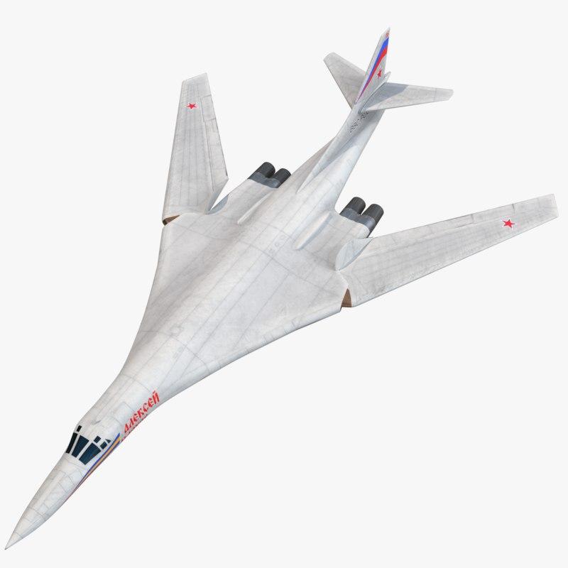 tu-160 tupolev blackjack bomber 3D model