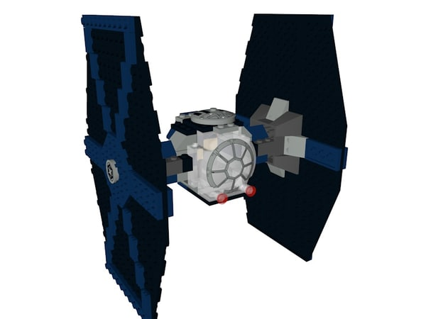 3D model lego star wars hex