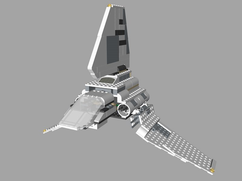 3D lego star wars model