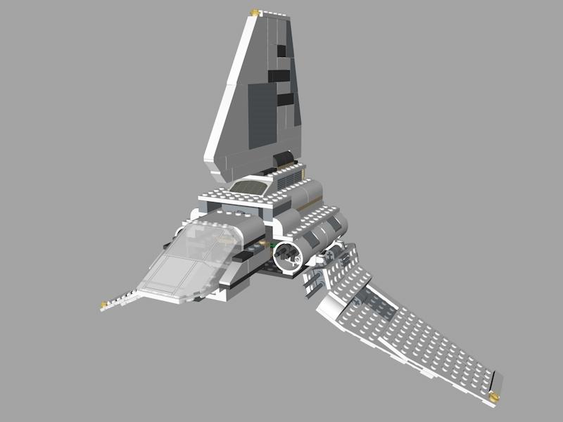 3D lego star wars model