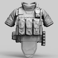3D bulletproof 6b43 ratnik russian army