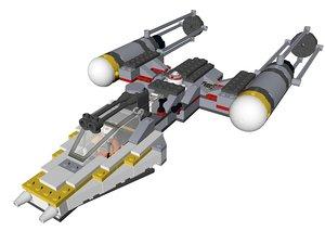 lego star wars y-wing 3D model