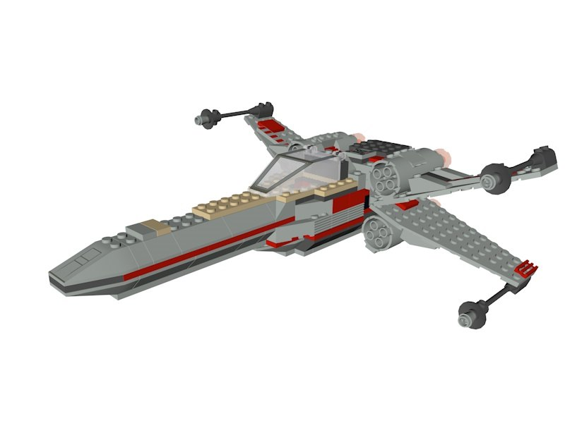 lego star wars x-wing 3D model